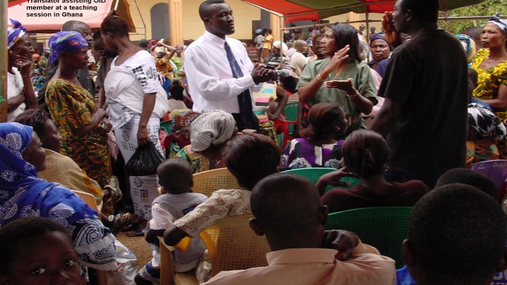 Health Education Session in Ghana