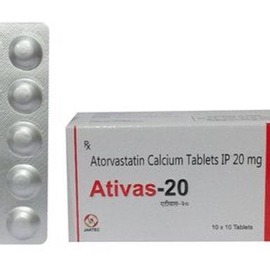 Atorvastatin 20 mg (Lipitor)