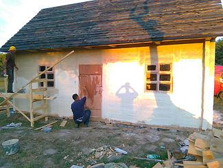 Будівництво деревяного будинку музею в Рівненській області