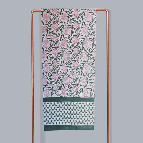 Anaar Large Table Runner | Block Printed Linen Runner | Saar Lifestyle