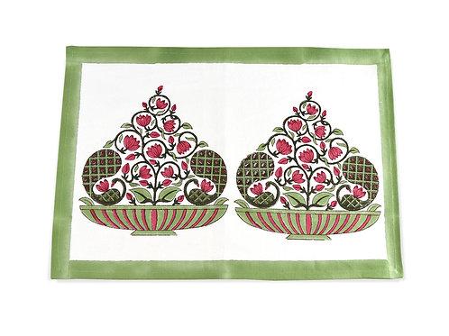 Panchi Placemat | Hand Block Printed Table Mat | Saar Lifestyle