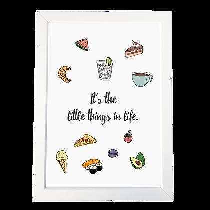 """""""Little things"""" plakat"""