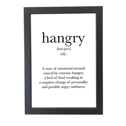 """Hangry"" poster"