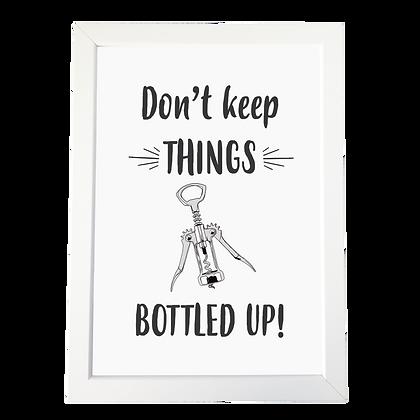 """""""Bottled up"""" poster"""