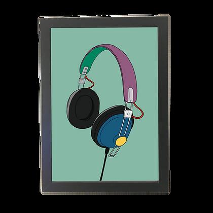 """""""Headphones"""" poster"""