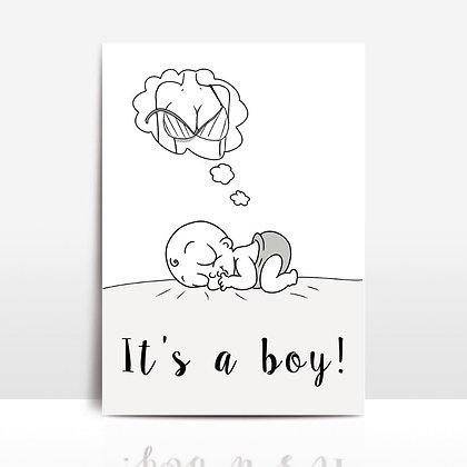 """""""I't a boy card"""""""
