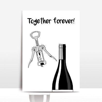 """""""Together forever"""" voščilnica"""