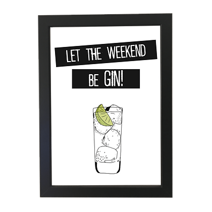 """Weekend Gin"" plakat"
