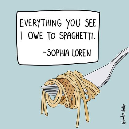 Spaghetti print