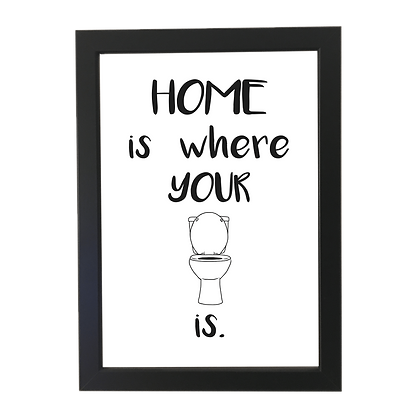 """Home toilet"" plakat"