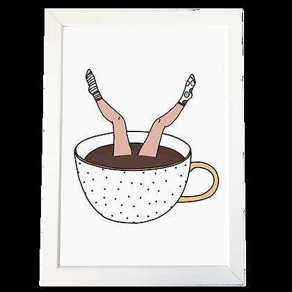 """Coffee addict"" plakat"