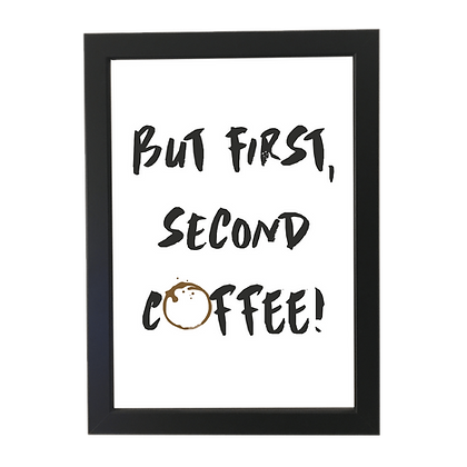 """Second coffee"" plakat"
