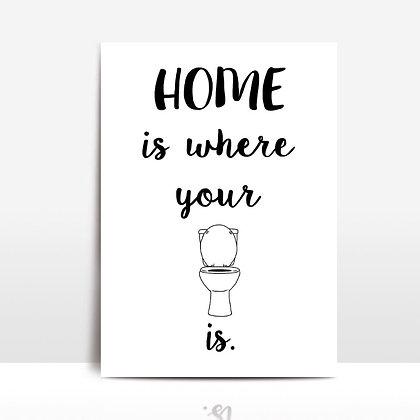 """Home toilet"" voščilnica"