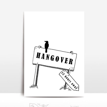 """Hangover"" voščilnica"
