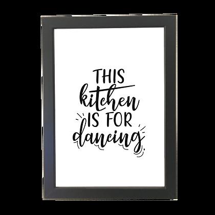 """""""Kitchen dance"""" poster"""