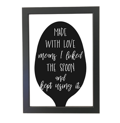 """""""Made with love"""" poster"""