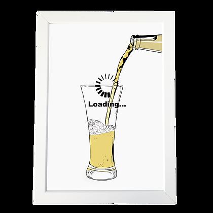 """Beer loading"" poster"