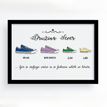 """Družina"" personaliziran plakat"