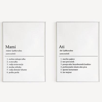 """Mami in Ati"" komplet"