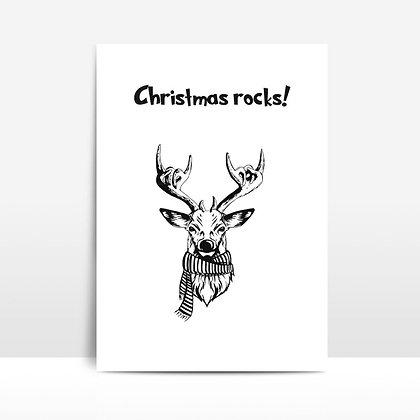 """""""Christmas rocks"""" voščilnica"""
