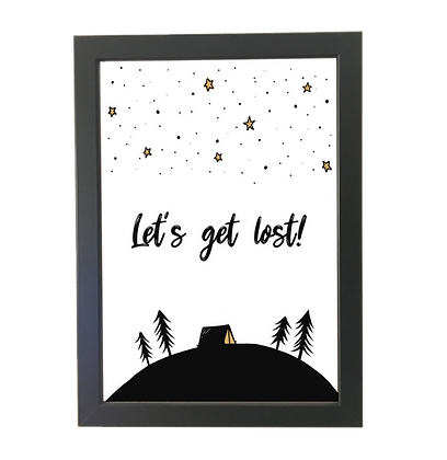 """""""Let's get lost"""" poster"""