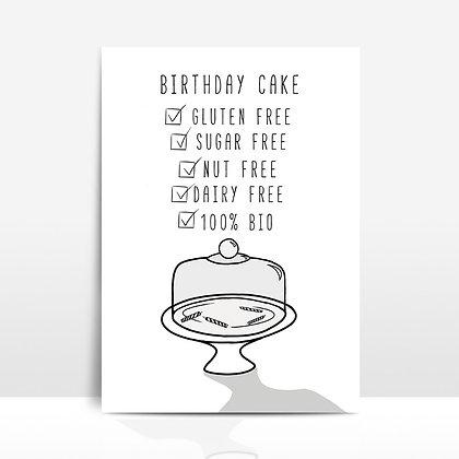 """Birthday cake"" voščilnica"