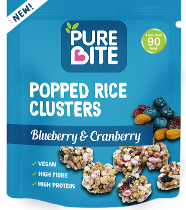 Blueberry & Cranberry Popped Rice Clusters Box of 10