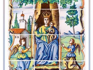 Imatges ceràmiques de la Mare de Déu de la Salut als carrers d'Algemesí