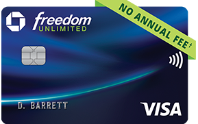 CHASE FREEDOM UNLIMITED!