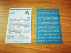 diseño de calendario de bolsillo