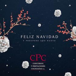 tarjeta de felicitación navideña corporativa