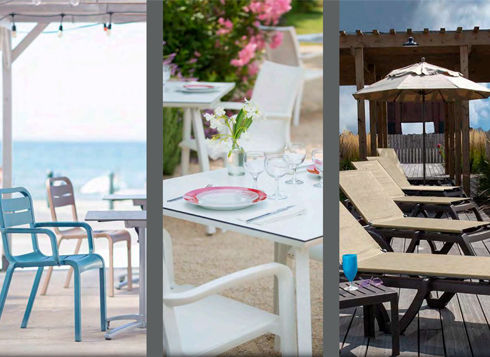 A fabulous outdoor line of resin-based furniture, Grosfillex offers unrivalled beauty, quality, and durability at a very modest price-point. From tables and chairs to barstools, chaises and more, Grosfillex is an invaluable in-stock resource.