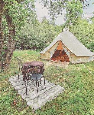 glamping tält
