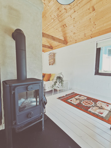 chimney inside the guest cottage