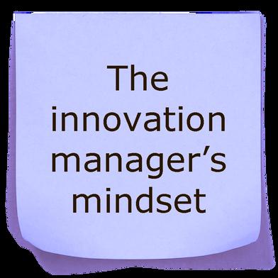 The innovation manager mindset