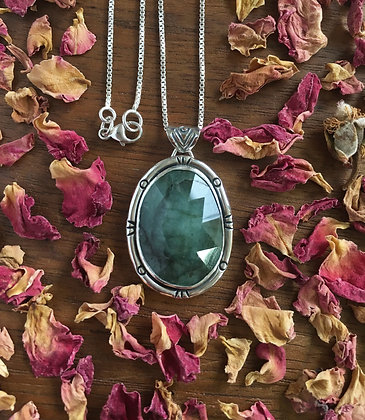Natural Emerald Pendant Necklace