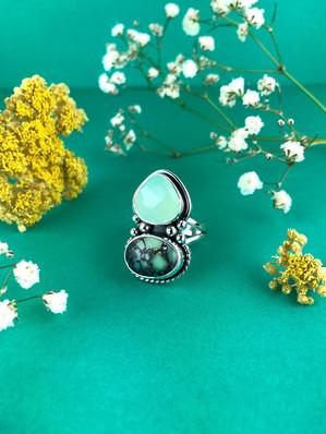 Chalcedony and Poseidon Ring