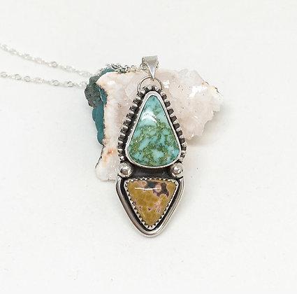 High-grade Turquoise Mountain + Ocean Jasper Necklace