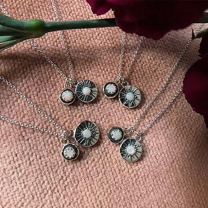 Sun + Moon Opal Necklaces