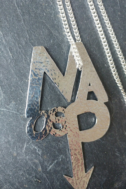 Mark Anthony as Prince Pendant Solid Silver MAasP Logo