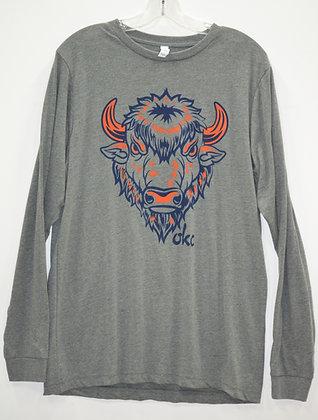 Big Buffalo Grey Long Sleeve