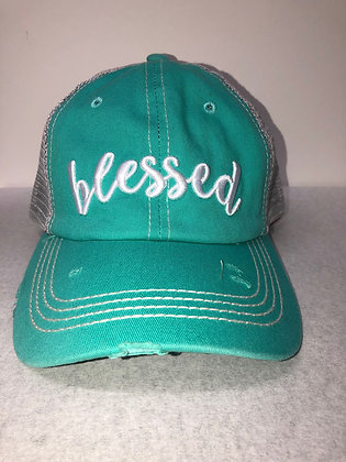 Blessed Turquoise Hat