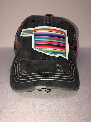 Blake Oklahoma Hat With Stripes