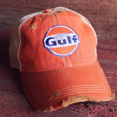 Gulf Distressed Hat (Orange)