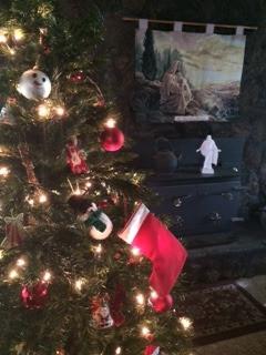 Jesus' stocking on the tree