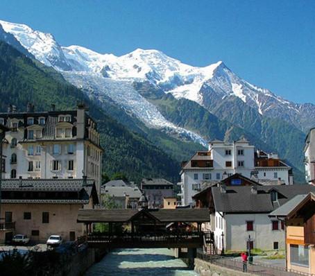 Chamonix, aos pés do Mont-Blanc.