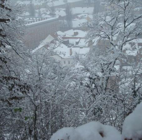 A neve na Europa e outras. Começou a viagem.