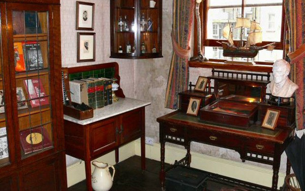 Quarto do Dr Watson - Museu Sherlock Holmes - Londres - Inglaterra