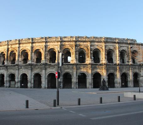 O Coliseu de Nimes na França