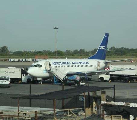 Conexão em Buenos Aires pela Aerolineas Argentinas.